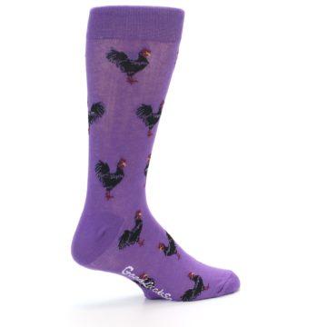 Image of Purple Roosters Men's Dress Socks (side-1-23)
