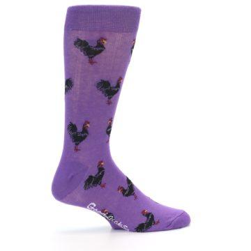 Image of Purple Roosters Men's Dress Socks (side-1-24)