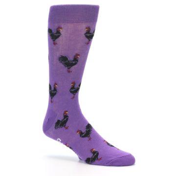 Image of Purple Roosters Men's Dress Socks (side-1-26)