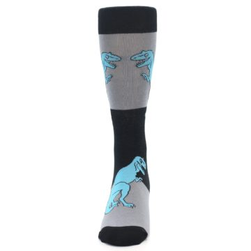 Image of Grey Black T-Rex Men's Dress Socks (front-05)