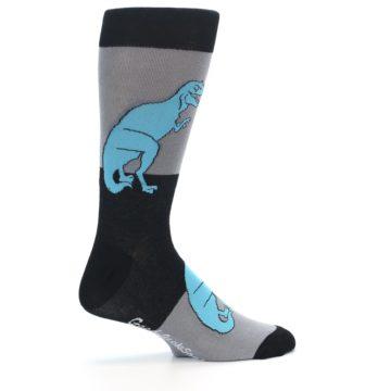 Image of Grey Black T-Rex Men's Dress Socks (side-1-24)