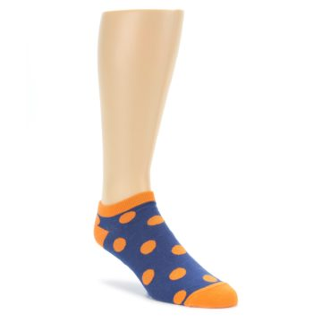 Blue Orange Polka Dot Ankle Socks by Good Luck