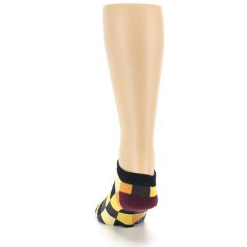Image of Yellow Black Checkered Men's Ankle Socks (back-17)