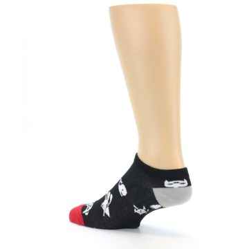 Image of Black White Monsters Men's Ankle Socks (side-2-back-14)