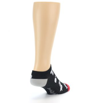 Image of Black White Monsters Men's Ankle Socks (side-1-back-21)