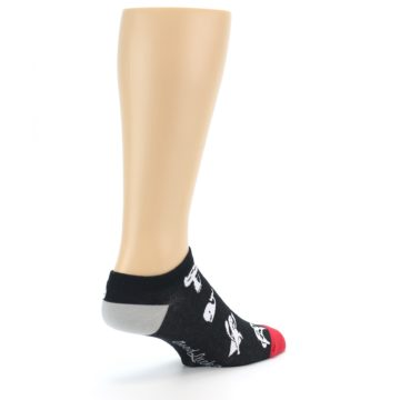 Image of Black White Monsters Men's Ankle Socks (side-1-back-22)