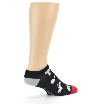 Image of Black White Monsters Men's Ankle Socks (side-1-23)