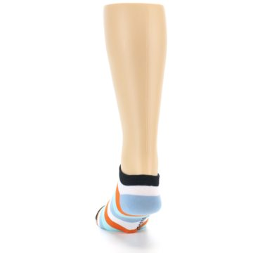 Image of Orange Blues Stripe Men's Ankle Socks (back-17)