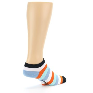Image of Orange Blues Stripe Men's Ankle Socks (side-1-back-22)