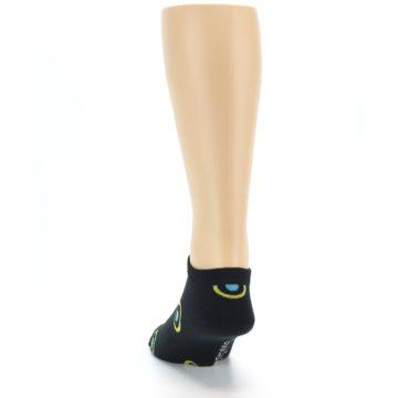 Image of Black Yellow Bullseye Men's Ankle Socks (back-17)
