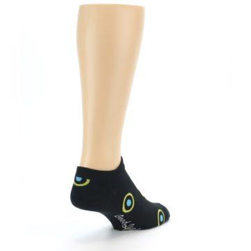 Image of Black Yellow Bullseye Men's Ankle Socks (side-1-back-21)
