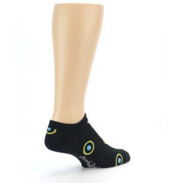 Image of Black Yellow Bullseye Men's Ankle Socks (side-1-back-22)