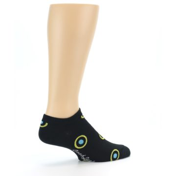 Image of Black Yellow Bullseye Men's Ankle Socks (side-1-23)