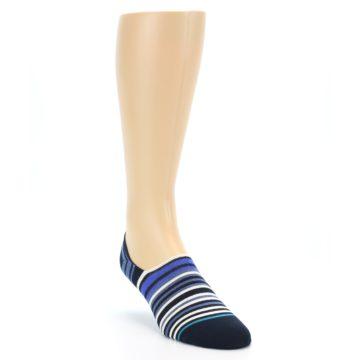 Image of Blues White Stripe Men's Liner Socks (side-1-front-02)