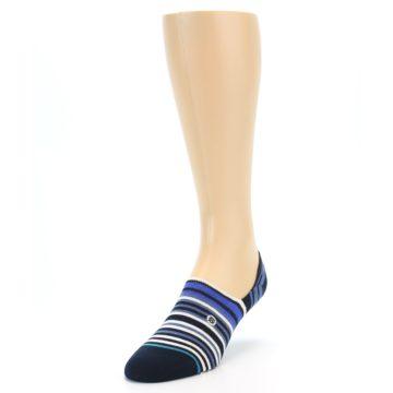 Image of Blues White Stripe Men's Liner Socks (side-2-front-07)
