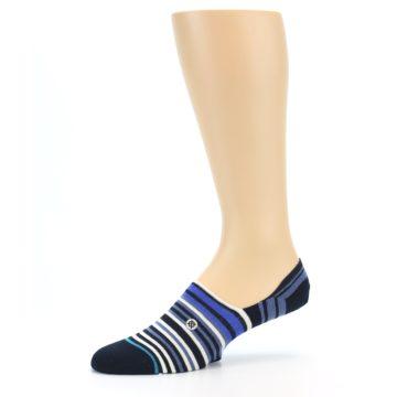 Image of Blues White Stripe Men's Liner Socks (side-2-10)