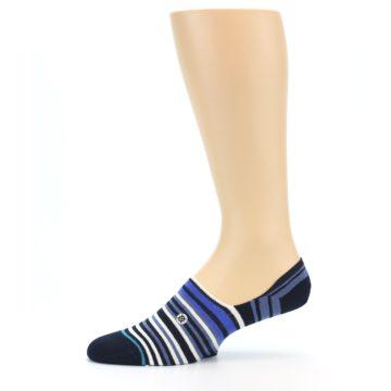 Image of Blues White Stripe Men's Liner Socks (side-2-11)