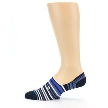 Image of Blues White Stripe Men's Liner Socks (side-2-12)