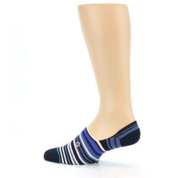Image of Blues White Stripe Men's Liner Socks (side-2-13)