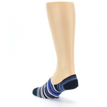 Image of Blues White Stripe Men's Liner Socks (side-2-back-15)