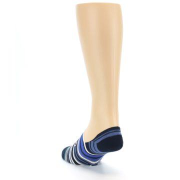 Image of Blues White Stripe Men's Liner Socks (side-2-back-16)