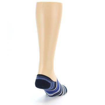 Image of Blues White Stripe Men's Liner Socks (side-1-back-20)