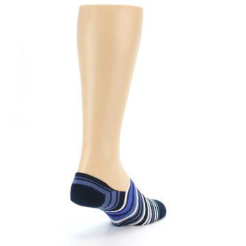 Image of Blues White Stripe Men's Liner Socks (side-1-back-21)