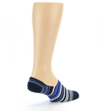 Image of Blues White Stripe Men's Liner Socks (side-1-back-22)