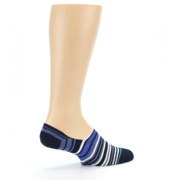Image of Blues White Stripe Men's Liner Socks (side-1-23)