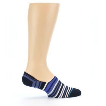Image of Blues White Stripe Men's Liner Socks (side-1-24)