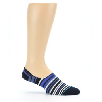 Image of Blues White Stripe Men's Liner Socks (side-1-25)