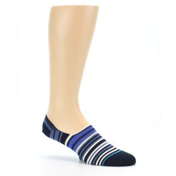 Image of Blues White Stripe Men's Liner Socks (side-1-26)