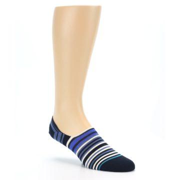 Image of Blues White Stripe Men's Liner Socks (side-1-27)