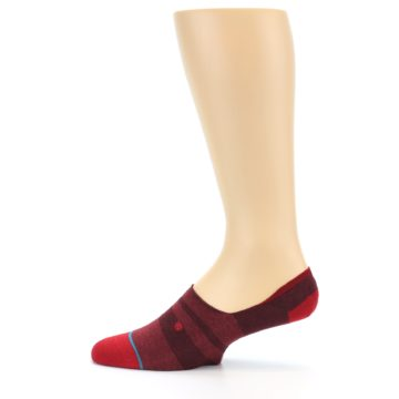 Image of Red Stripe Men's Liner Socks (side-2-12)