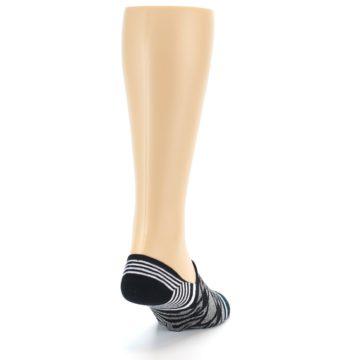 Image of Black Grey White Patterned Men's Liner Socks (side-1-back-20)