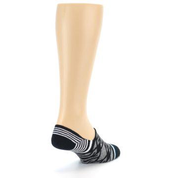 Image of Black Grey White Patterned Men's Liner Socks (side-1-back-21)