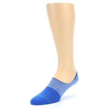 Image of Blue Solid Men's Liner Socks (side-2-front-08)