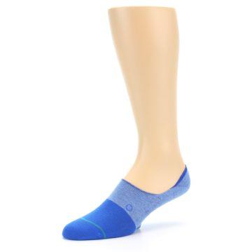 Image of Blue Solid Men's Liner Socks (side-2-09)