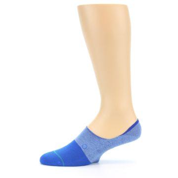 Image of Blue Solid Men's Liner Socks (side-2-11)