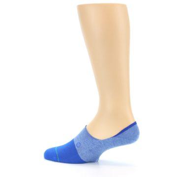 Image of Blue Solid Men's Liner Socks (side-2-13)