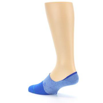 Image of Blue Solid Men's Liner Socks (side-2-back-14)