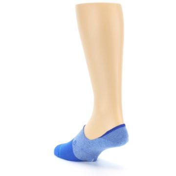 Image of Blue Solid Men's Liner Socks (side-2-back-15)