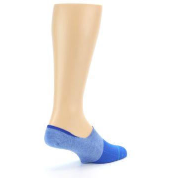 Image of Blue Solid Men's Liner Socks (side-1-back-22)