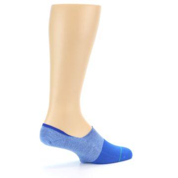 Image of Blue Solid Men's Liner Socks (side-1-23)