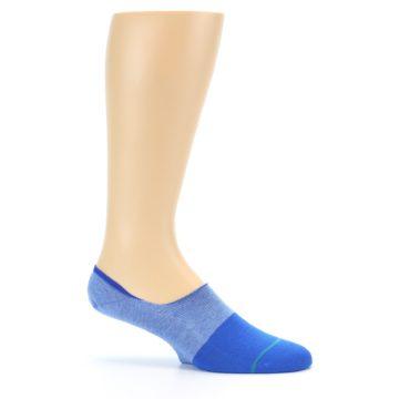 Image of Blue Solid Men's Liner Socks (side-1-25)
