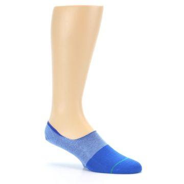 Image of Blue Solid Men's Liner Socks (side-1-26)