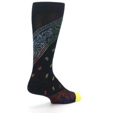 Image of Black Multi Paisley Men's Casual Socks (side-1-back-22)