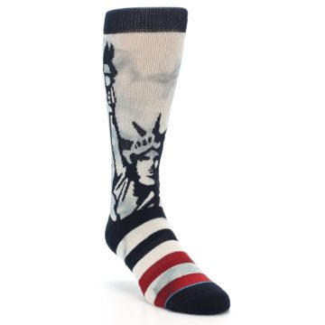 Image of Lady Liberty Men's Casual Socks (side-1-front-02)