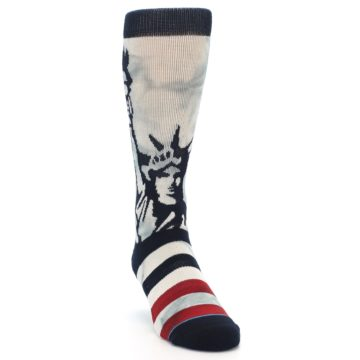 Image of Lady Liberty Men's Casual Socks (side-1-front-03)