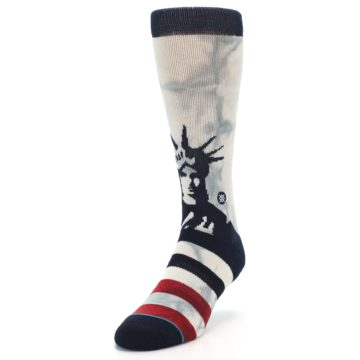 Image of Lady Liberty Men's Casual Socks (side-2-front-07)
